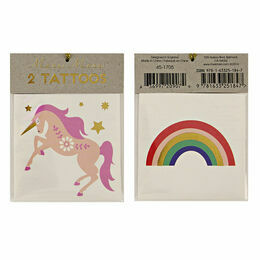 Meri Meri Unicorn & Rainbow Tattoos