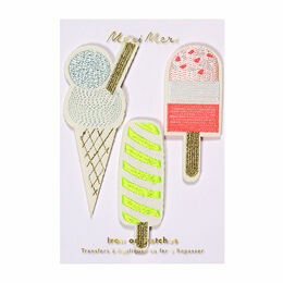 Meri Meri Icecream/Popsicle Iron-on Patches