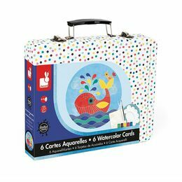Janod Watercolour Painting Set in a Tin - The Sea