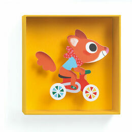 Djeco Box Framed 3D Picture - Scouic the Squirrel