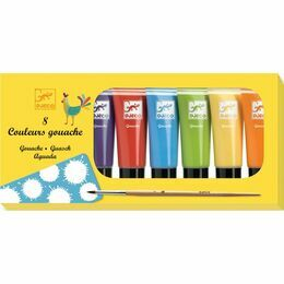 Djeco 8 Tubes of Gouache Paint - Classic Colours
