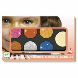 Djeco Face Painting Kit - Metallic Colours