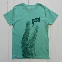 Lion of Leisure Crocodile Print T-Shirt - Green