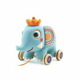 Djeco Pull Along Toy - Zephir the Elephant
