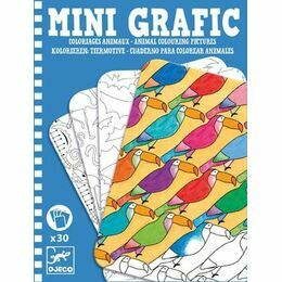 Djeco Mini Graphic - Animal Colouring Pictures