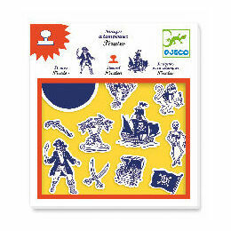 Djeco Stamp and Ink Set - Pirates