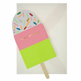 Meri Meri Ice Lolly / Popsicle Neon Greeting Card