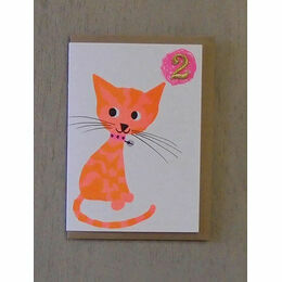 Cat Confetti Pet Birthday Card - Ages 1-5 yrs