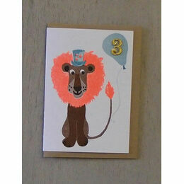 Lion Confetti Pet Birthday Card - Ages 1-5 yrs
