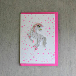 Iron-on Patch Greeting Card - Unicorn