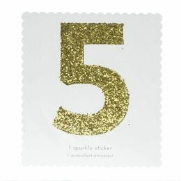 Meri Meri Number Chunky Gold Glitter Sticker - 5