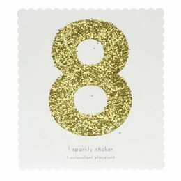 Meri Meri Number Chunky Gold Glitter Sticker - 8
