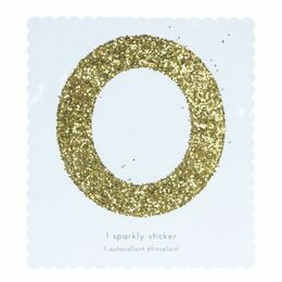 Meri Meri Number Chunky Gold Glitter Sticker - 0