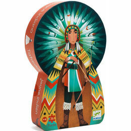 Djeco Silhouette 36 Piece Jigsaw Puzzle - Tatanka the Indian