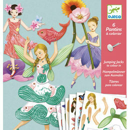 Djeco Colour-in Jumping Jacks - Fairies