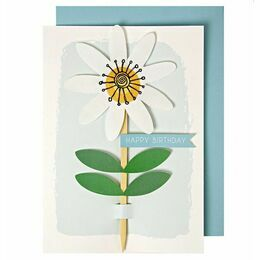 Meri Meri Embroidered Flower Greeting Card
