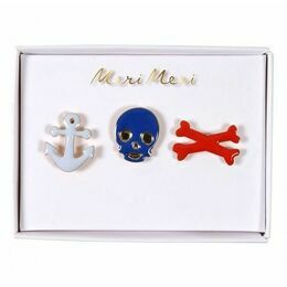 Meri Meri Set of Pirate Enamel Pins