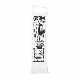 Wee Gallery Canvas Growth Chart - Woodlands