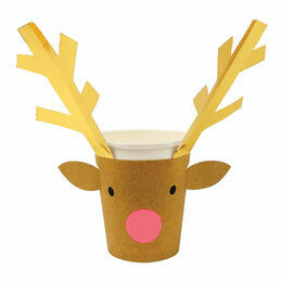 Meri Meri Party Cups with Reindeer Sleeves