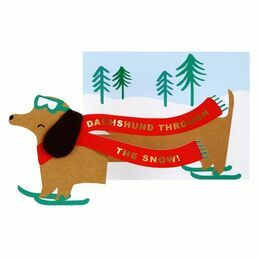 Daschund Christmas Greeting Card