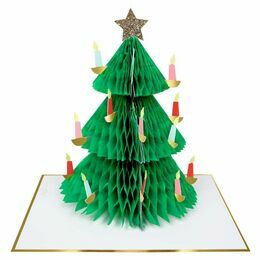 Honeycomb Christmas Tree Greeting Card
