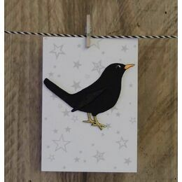 Iron - on  Fabric Patch - Blackbird
