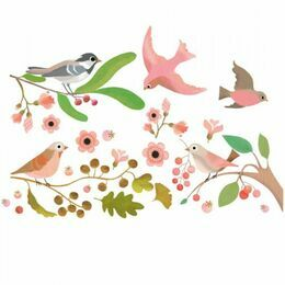 Djeco Window Stickers - Romantic Birds