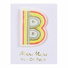 Alphabet Iron-on Patch - B