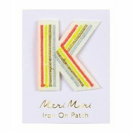 Alphabet Iron-on Patch - K