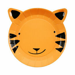 Go Wild Small Tiger Paper Party Plates