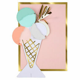 Ice Cream Honeycomb Greeting Card