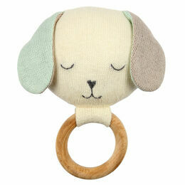 Organic Knitted Cotton Dog Rattle