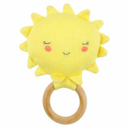 Organic Knitted Cotton Sun Rattle