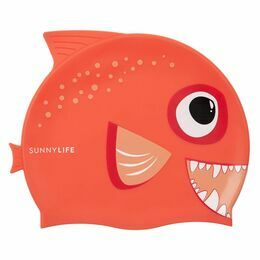 Swimming Cap - Fishy Red