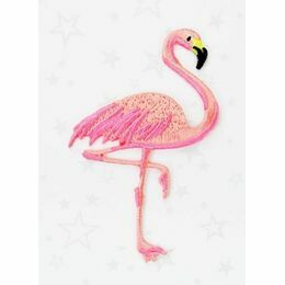 Embroidered Iron-on Patch - Flamingo
