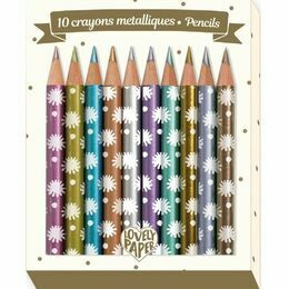 Djeco 10 Mini Metallic Coloured Pencils