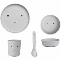 Bamboo Box Tableware Set - Rabbit Dumbo Grey