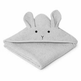 Rabbit Augusta Hooded Towel - Dumbo Grey