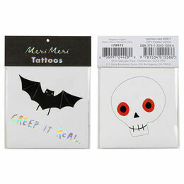 Meri Meri Tattoos - Skull & Bat