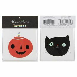 Meri Meri Tattoos - Cat and Pumpkin