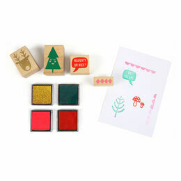 Meri Meri Jolly Rubber Stamp Set