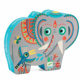 Djeco Silhouette Puzzle 24 Piece - Haathee The Asian Elephant