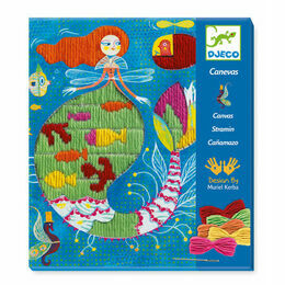 Djeco Drop Stitch Canvas Art Workshop - Mermaid