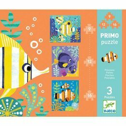 Djeco Fishes Primo Set of 3 Jigsaw Puzzles