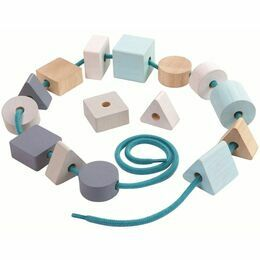 Plan Toys Wooden Geo Lacing Beads