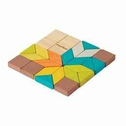 Plan Toys Mini Wooden Mosaic Set in a Tin