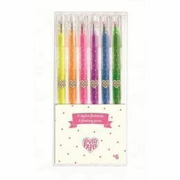 Djeco 6 Mini Neon Gel Pens