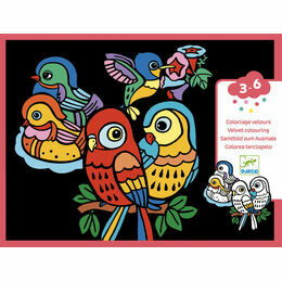 Djeco Colouring Velvet - Baby Birds