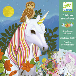 Djeco Scoubidou Art Workshop - Magic Unicorn Manes