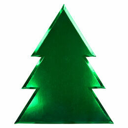 Meri Meri Foil Christmas Tree Large Plate
